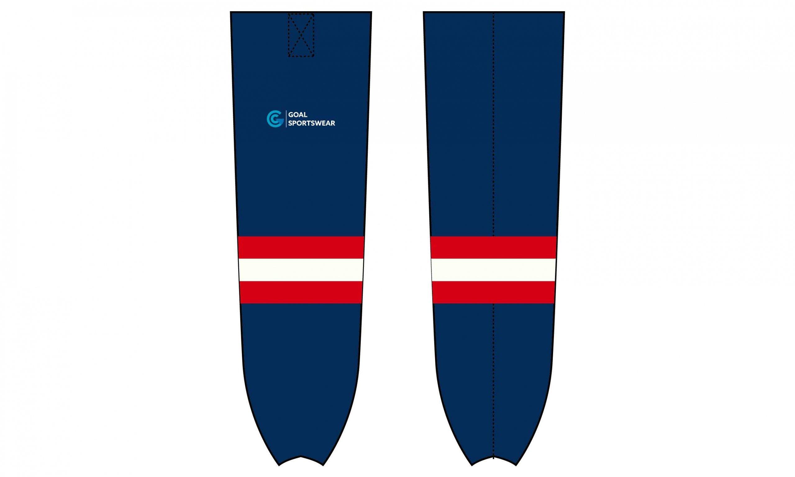 Full Sublimated printing custom youth hockey socks
