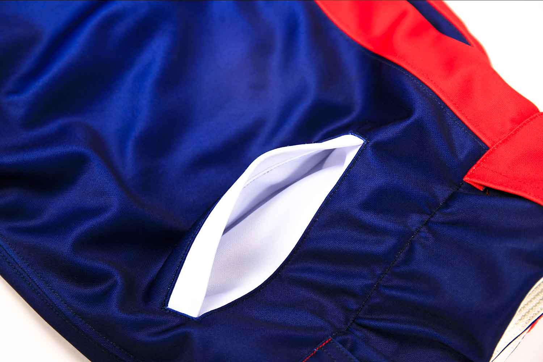 Full dye sublimation printing custom made team baseball pants pockets
