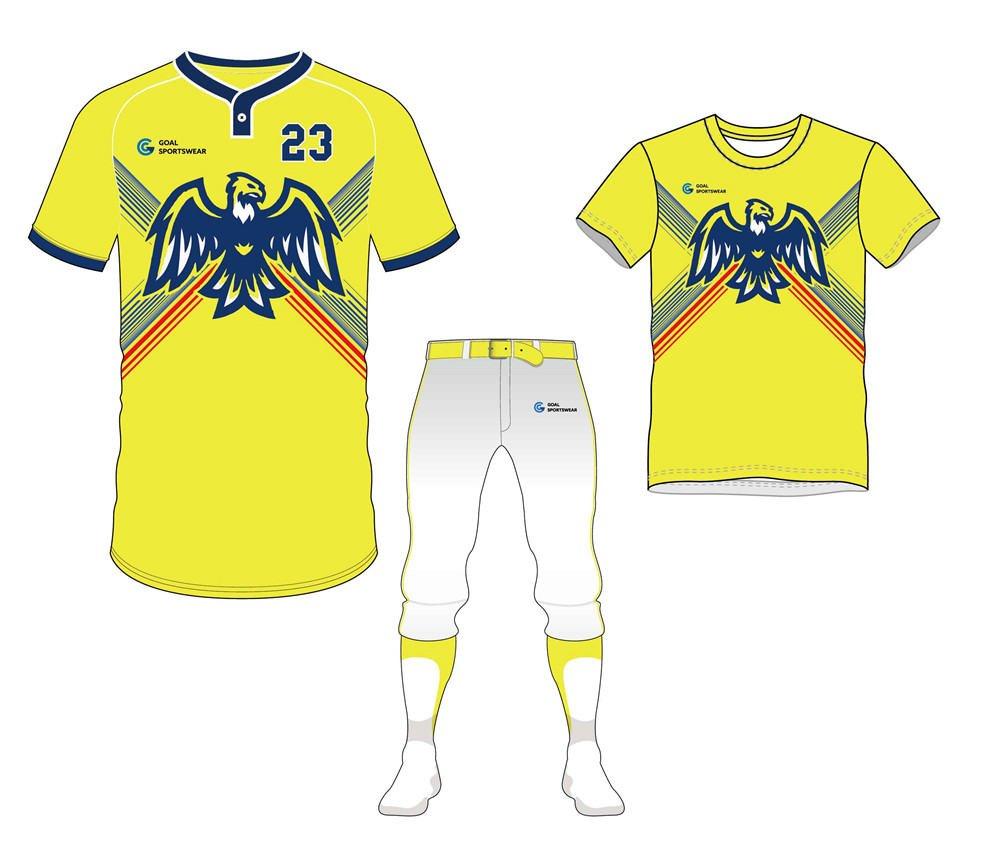 Full dye sublimation printing custom made team baseball uniform packages