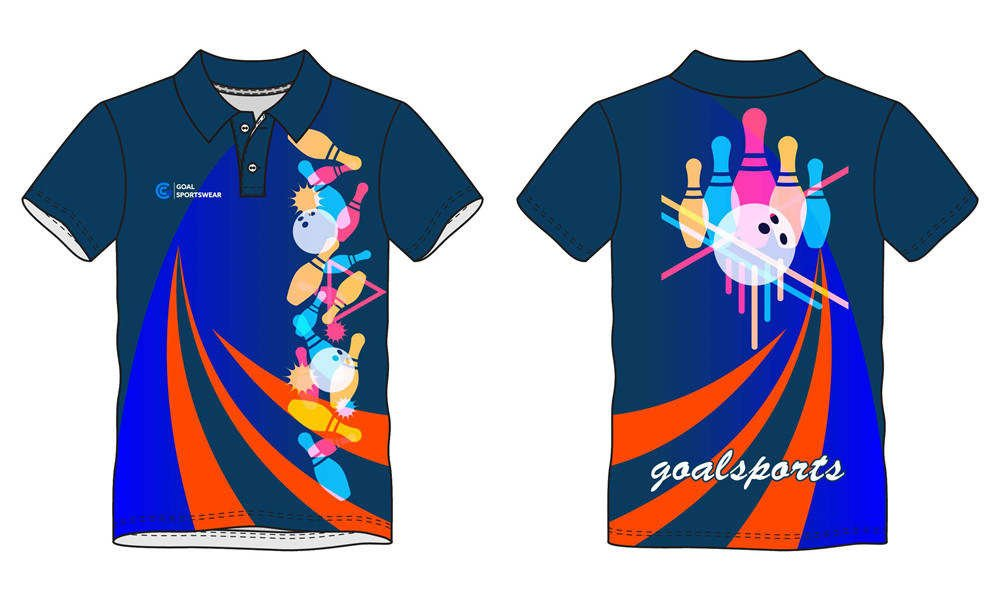 Full dye sublimation printing custom made team bowling jerseys