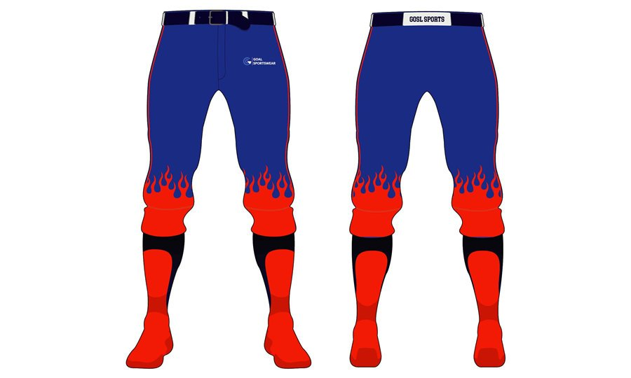 Full dye sublimation printing custom made team softball pants
