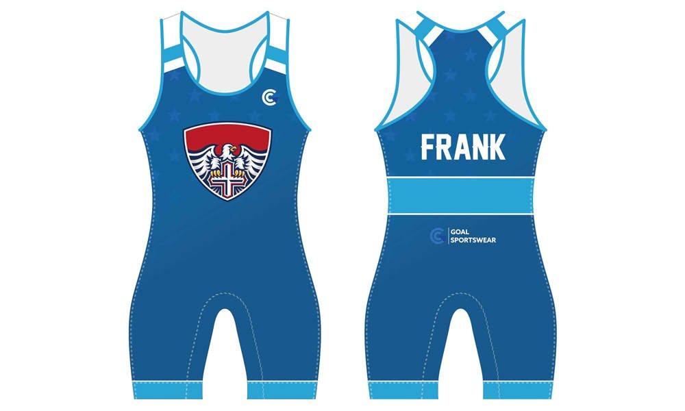 Full dye sublimation printing custom made team wrestling uniform