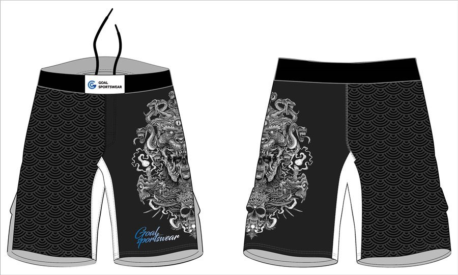 Full dye sublimation printing custom made womens mma fight shorts