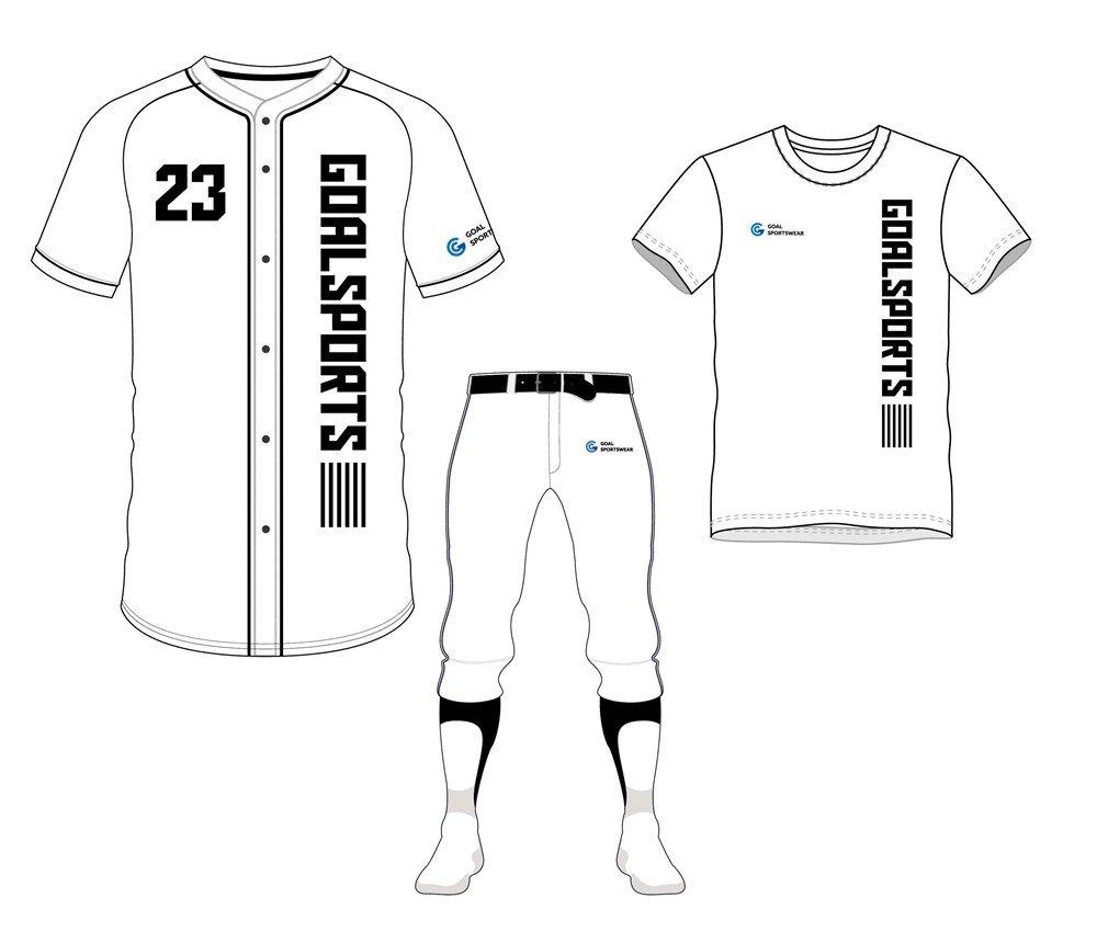 Full dye sublimation wholesale custom baseball uniform packages