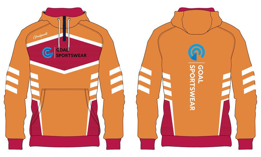 Full dye sublimation wholesale custom made 1_4 zipper hoodies