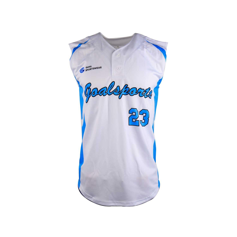 Full dye sublimation wholesale custom sleeveless baseball jersey
