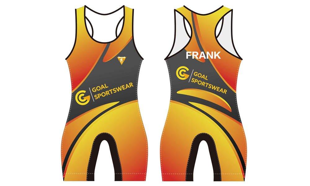 Full dye sublimation wholesale custom wrestling uniform