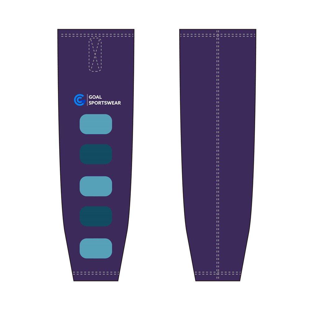 Full polyester Custom made durable mens team hockey socks