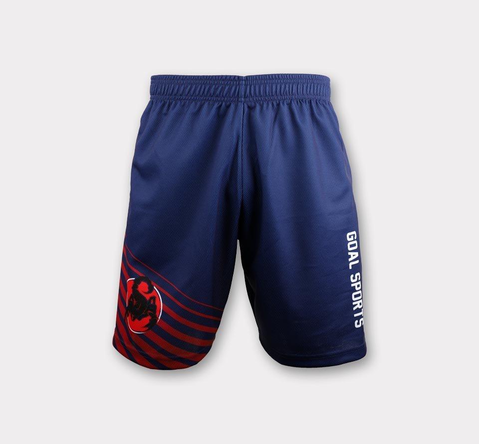 Full polyester Custom made durable mens team lacrosse shorts