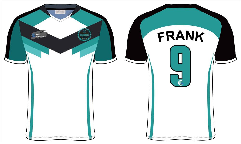 Full polyester Custom made durable mens team soccer shirts