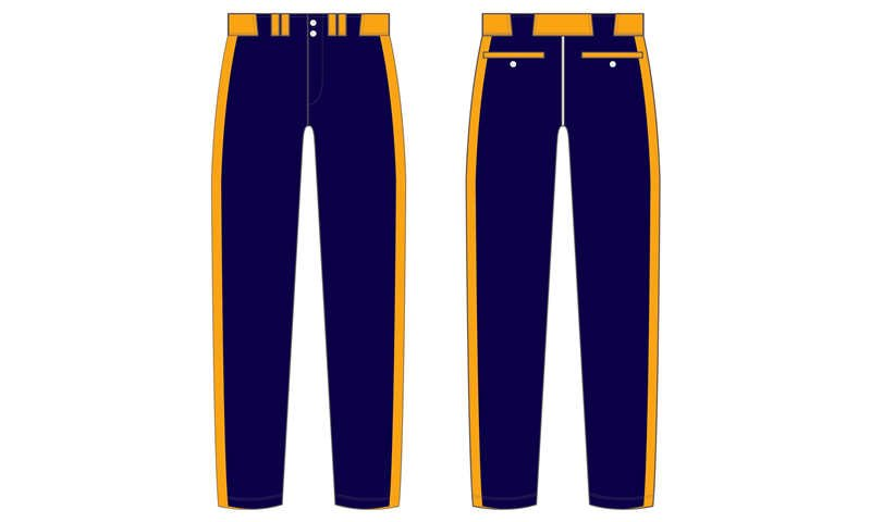 Full polyester Custom made durable mens team softball pants