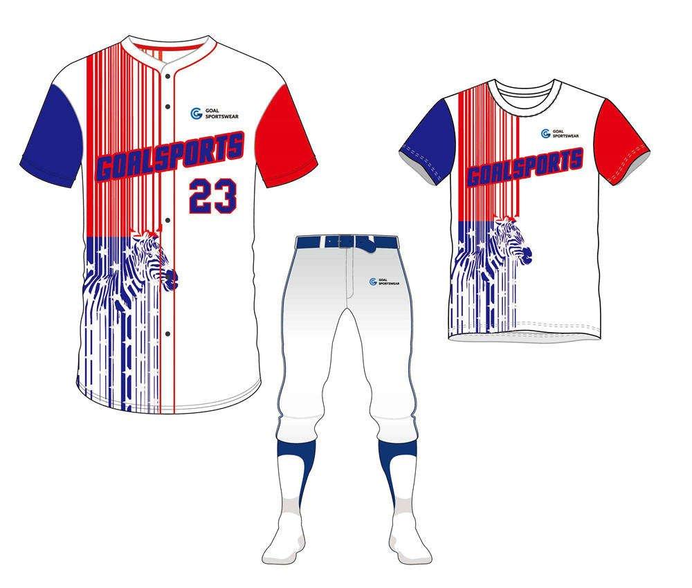 Full polyester Custom made durable mens team softball uniforms team packages