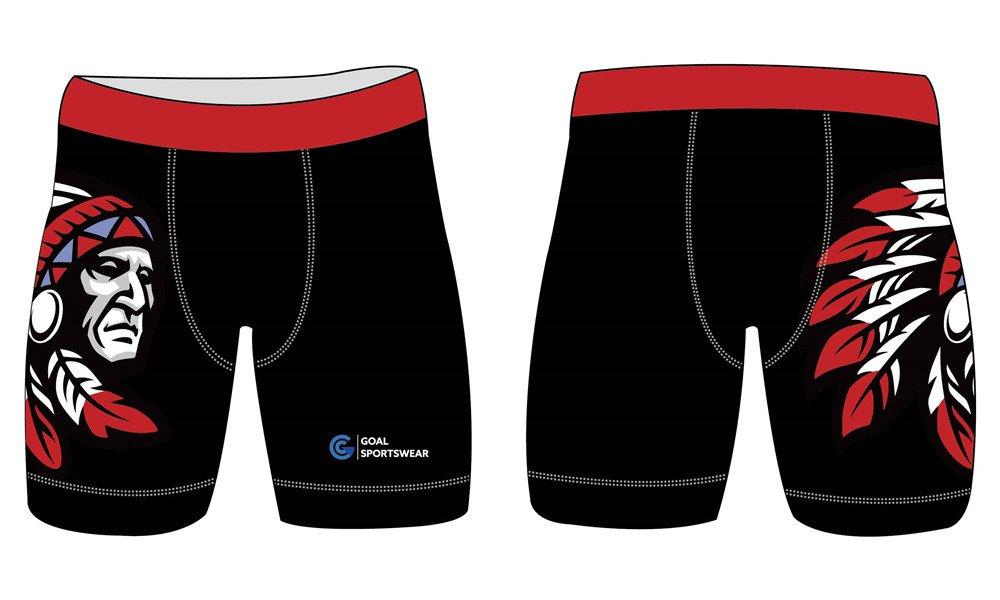Full polyester Custom made durable mens team wrestling shorts