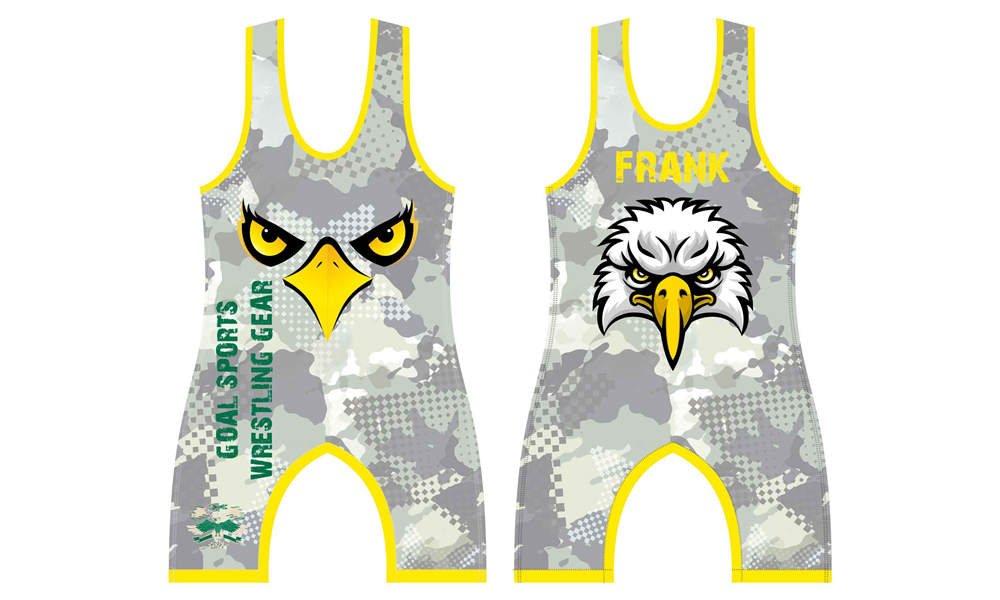 Full polyester Custom made durable mens team wrestling uniform
