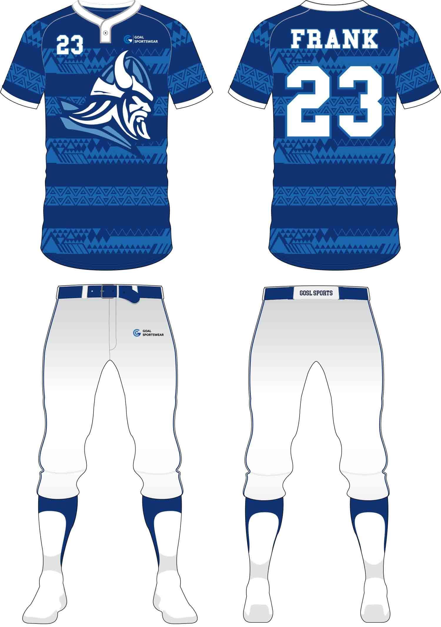 Full polyester breathable custom design sublimated Baseball Pants