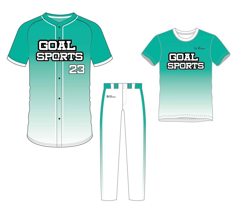 Full polyester breathable custom design sublimated baseball uniform packages