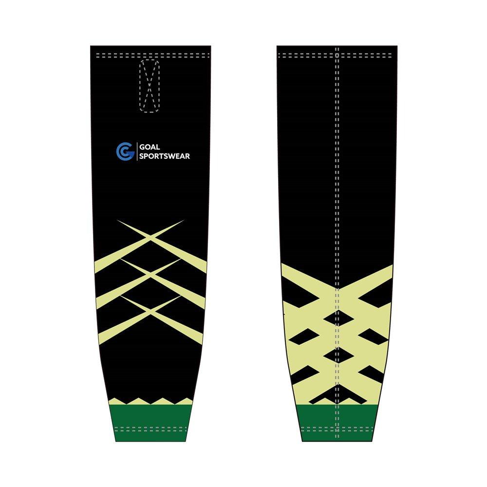 Full polyester breathable custom design sublimated hockey socks