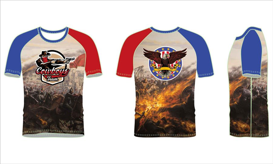 vFull polyester breathable custom design sublimated rash guard shirts