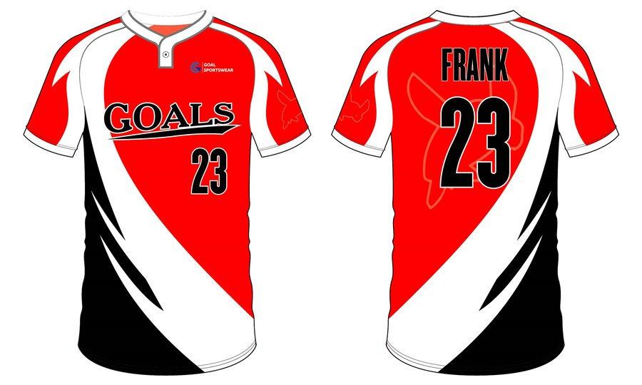 Full polyester breathable custom design sublimated softball shirts