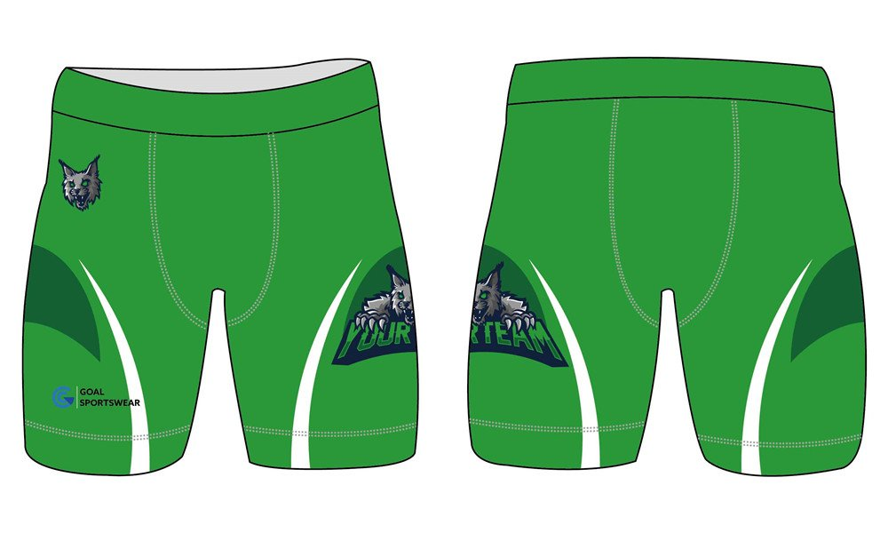 Full polyester breathable custom design sublimated wrestling shorts