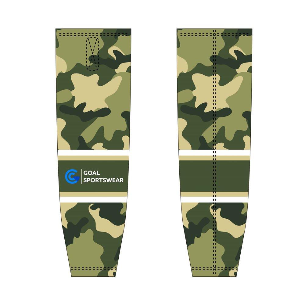 Full polyester durable sublimated custom youth team hockey socks