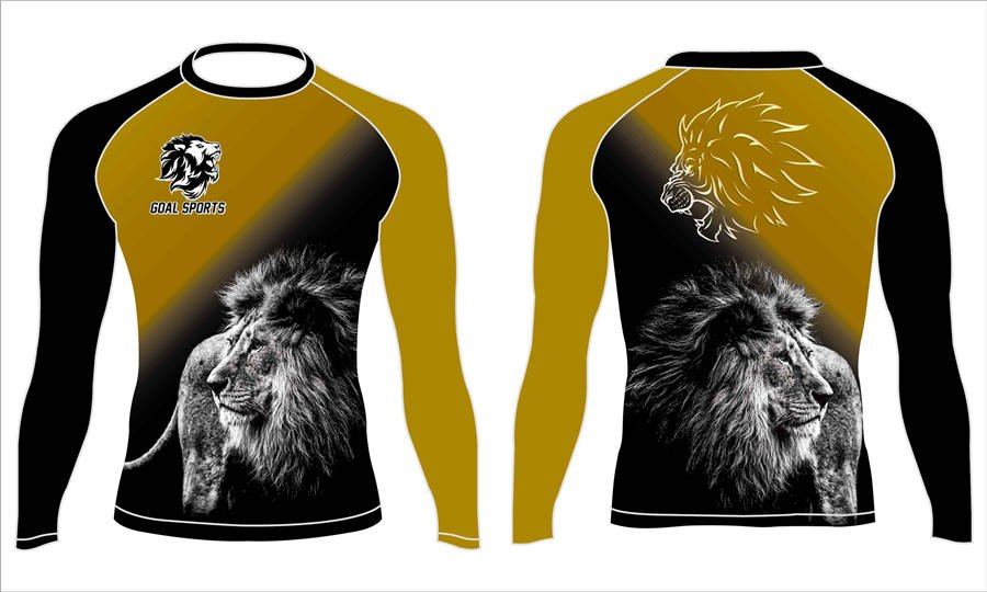 Full polyester durable sublimated custom youth team rash guard shirts