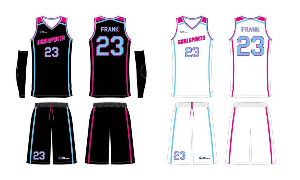 Full polyester durable sublimated custom youth team reversible basketball jerseys