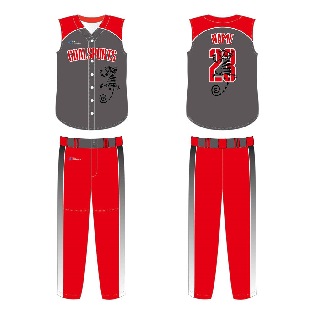 Full polyester durable sublimated custom youth team sleeveless baseball jersey