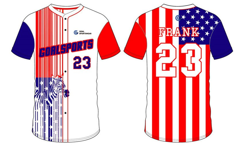 Full polyester durable sublimated custom youth team slow pitch softball jerseys