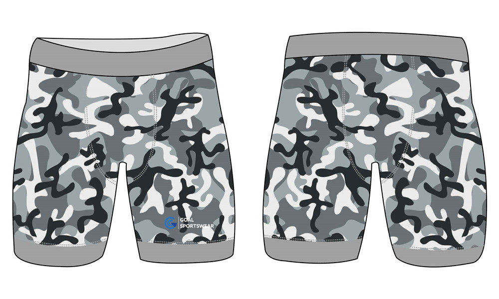 Full sublimation polyester spandex custom camo compression shorts