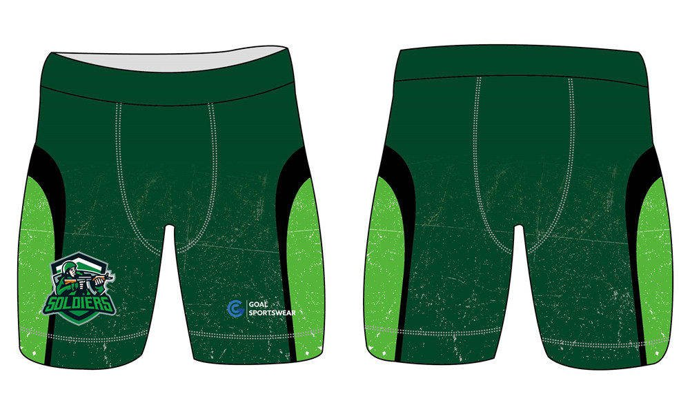Full sublimation printing Custom green compression shorts