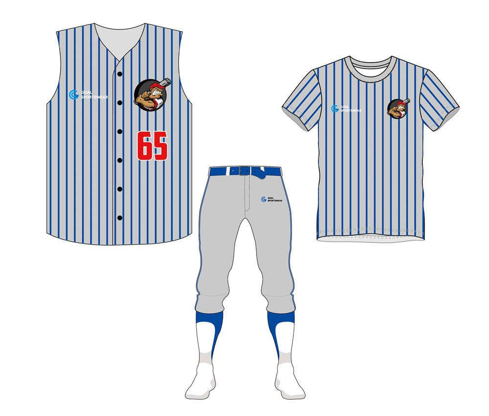 High quality 100% polyester sublimation custom design baseball uniform packages