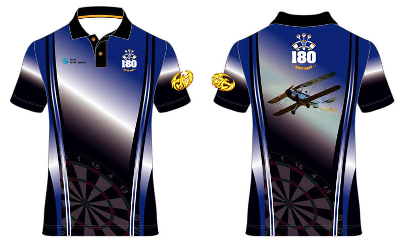 High quality 100% polyester sublimation custom design bowling jerseys