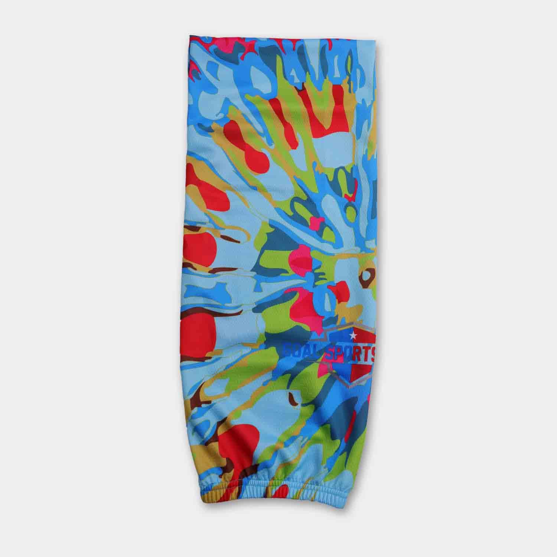 High quality 100% polyester sublimation custom design hockey socks