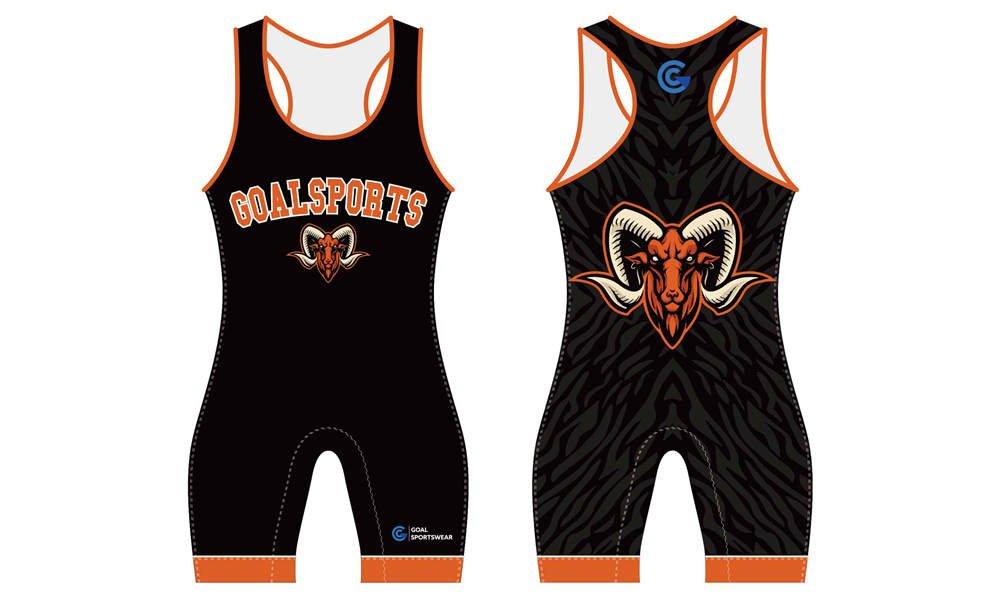 High quality 100% polyester sublimation custom design wrestling uniform