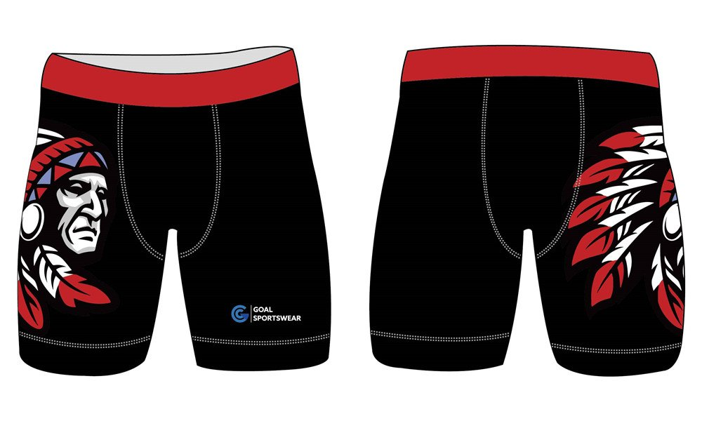 High quality sublimation custom design poly spandex fight compression shorts