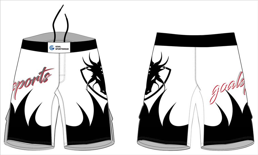 High quality sublimation custom design poly spandex womens fight shorts