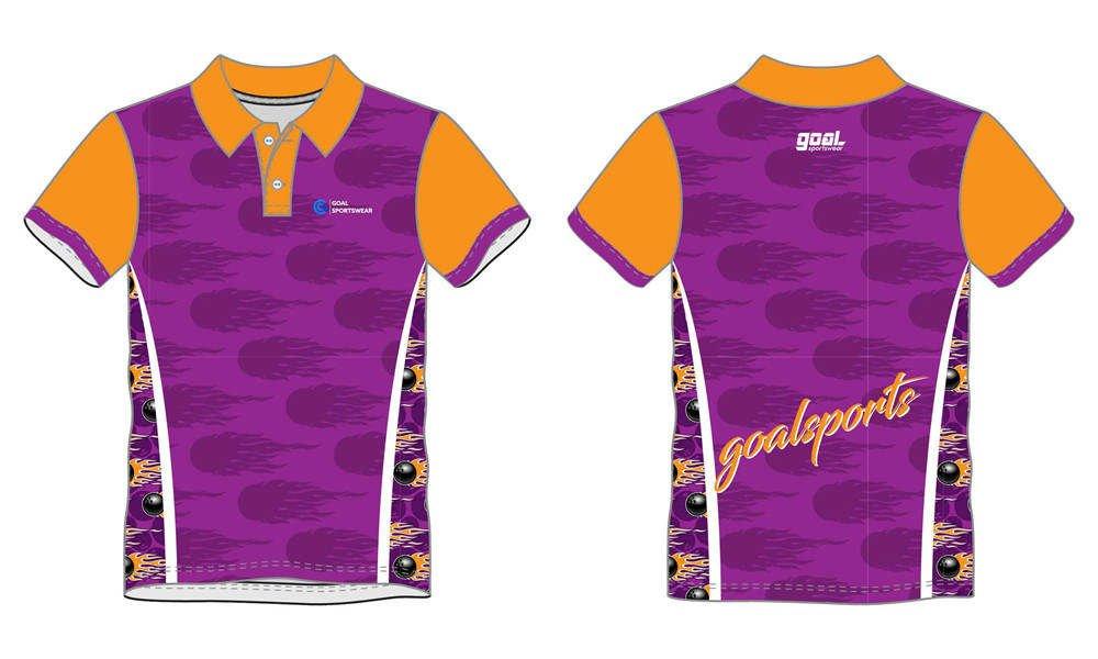 High school custom design sublimated reversible bowling jerseys