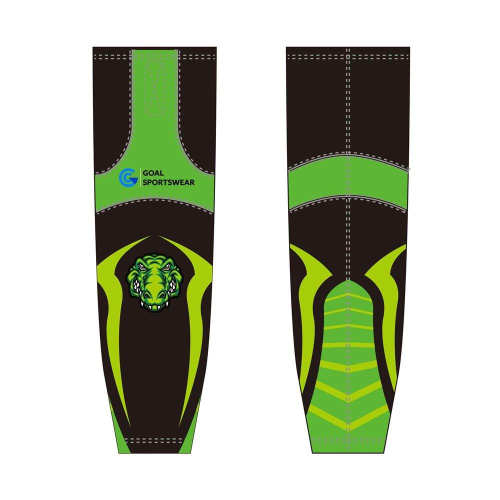 High school custom design sublimated reversible hockey socks
