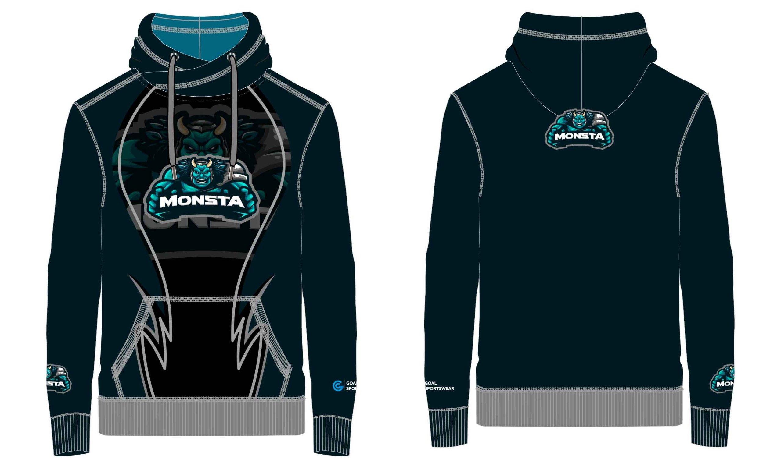 High school custom design sublimated reversible wrestling hoodies