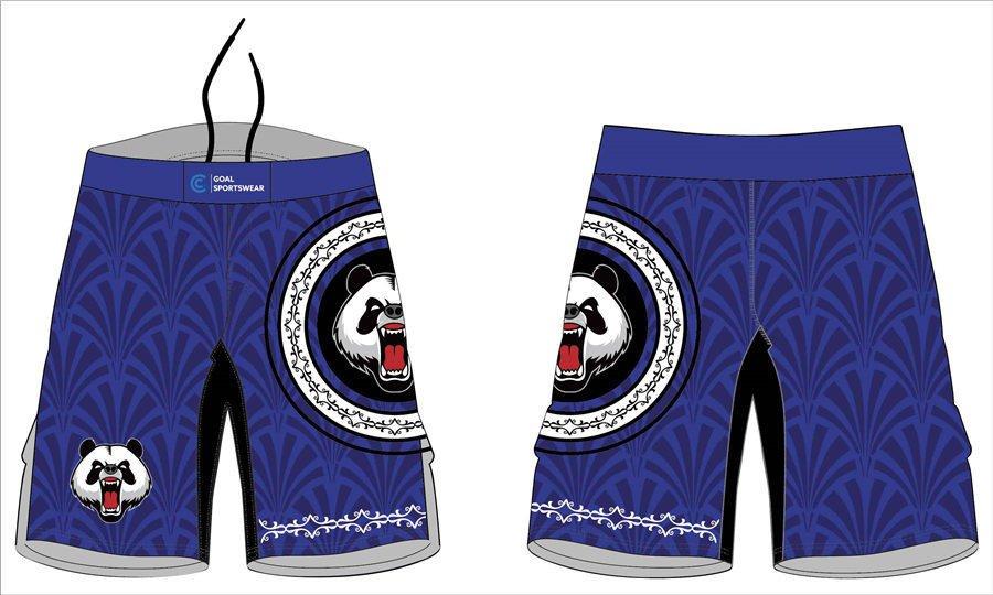 High school sublimation custom printed mma kickboxing shorts