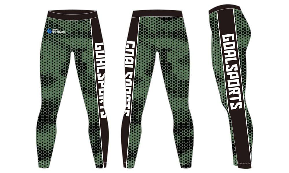 Pro quality Custom design sublimated printing spandex compression pants