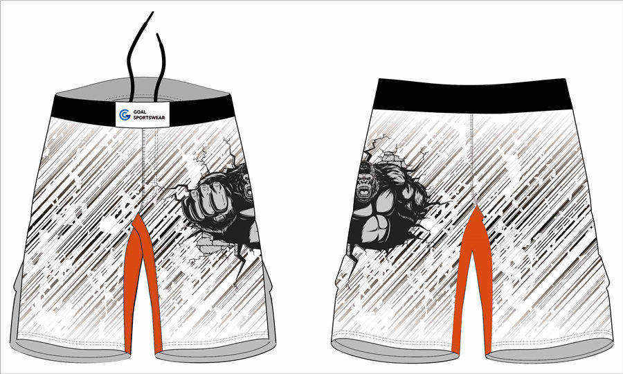 Pro quality Custom design sublimated printing spandex mens MMA shorts