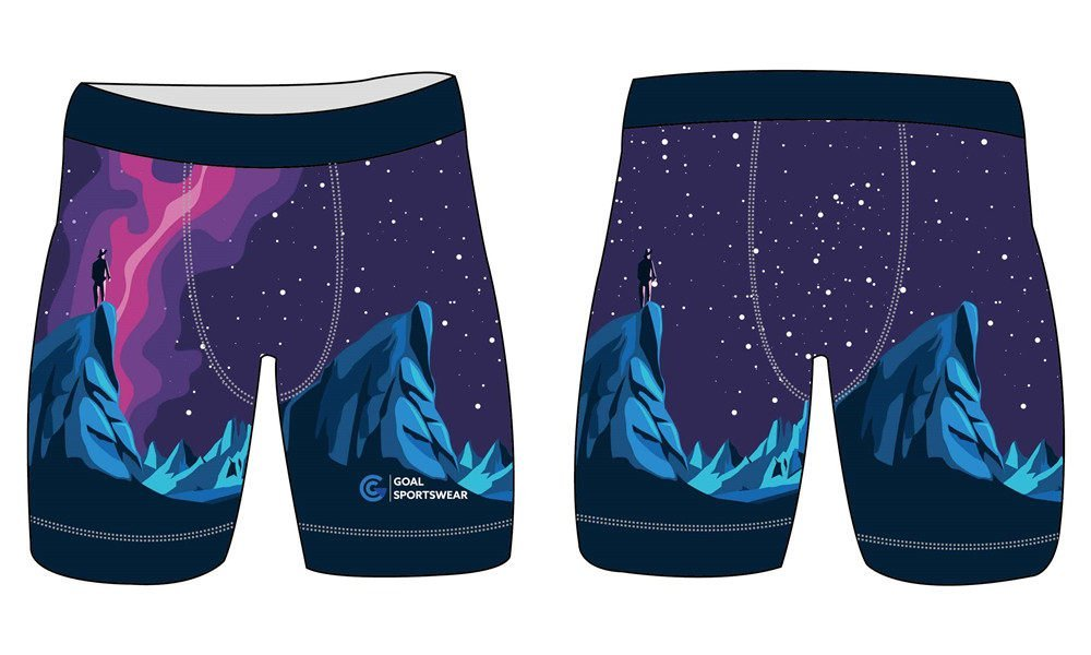 Pro quality Custom design sublimated spandex mens compression shorts