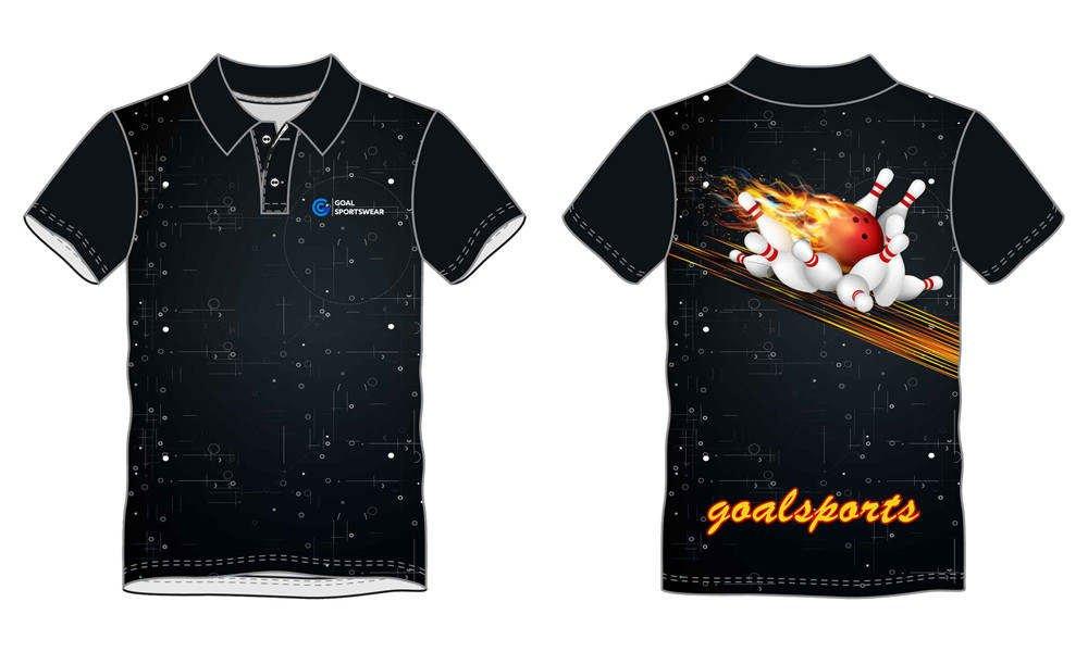 Pro quality sublimation printing custom design team bowling jerseys