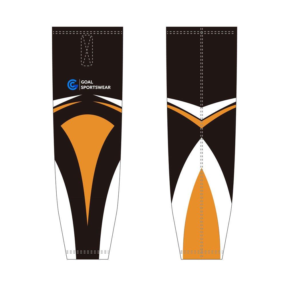 Pro quality sublimation printing custom design team hockey socks