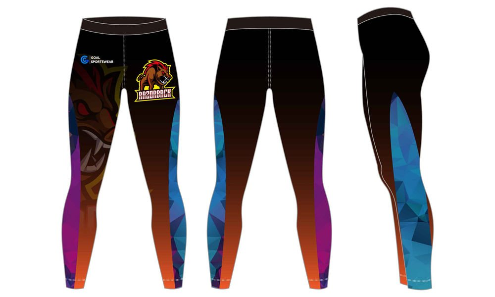 Quick dry sublimation printing custom youth compression pants