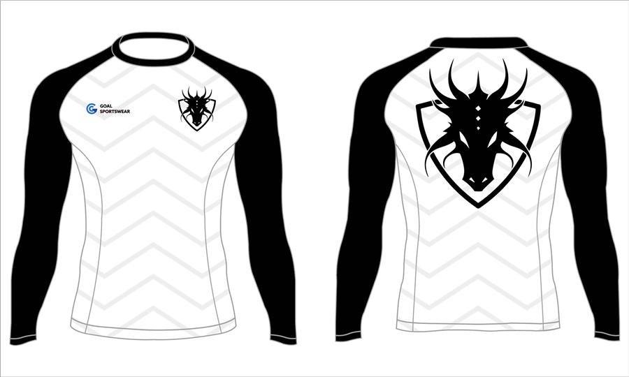 Quick dry sublimation printing custom youth team black long sleeve rash guard