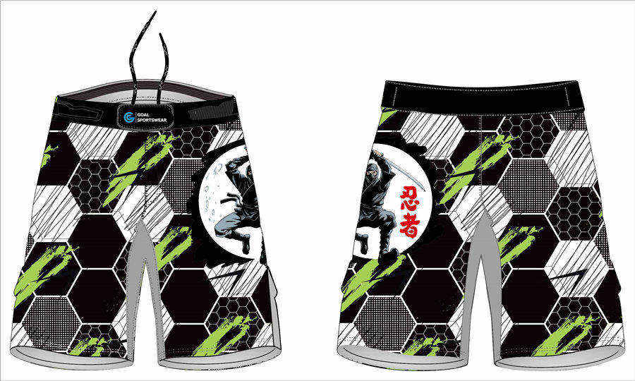 Quick dry sublimation printing custom youth team tatoo mma shorts