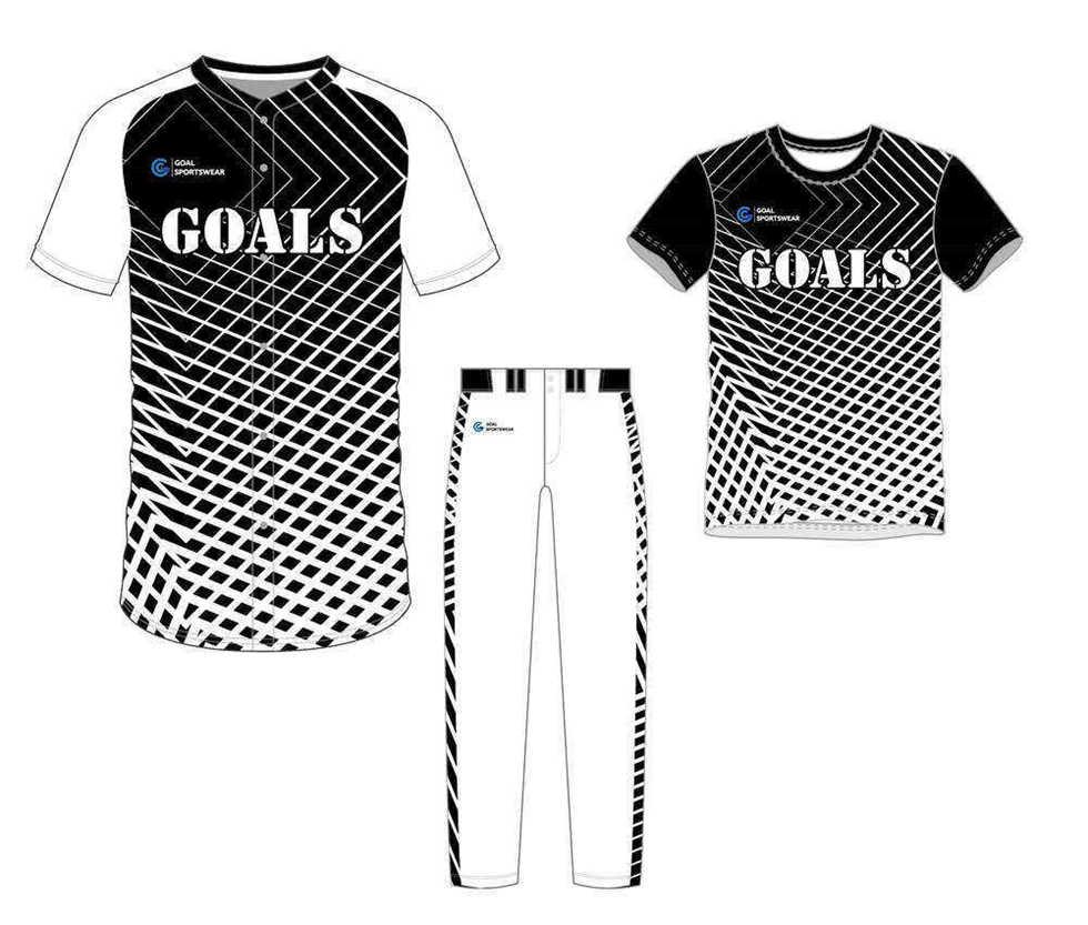 Sublimation high quality custom youth v neck baseball uniform packages